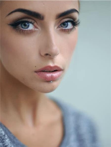 Labret Piercing Images