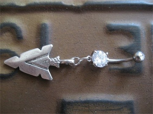 Arrowhead Belly Button Jewelry Navel Piercing