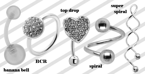Belly Button Ring Types