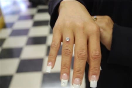 Dermal FInger Piercing Ring