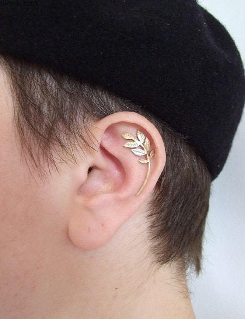 Leafy Helix earring for Men