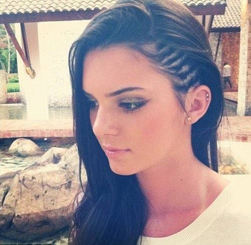 Kendall double helix earring and braid