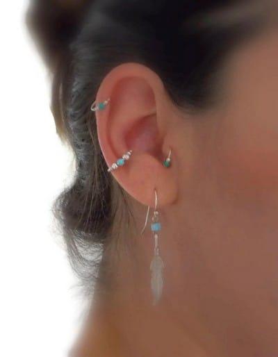 Diamond Flower Conch Piercing