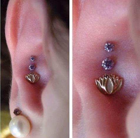Triple Conch Piercing
