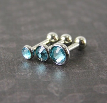Aqua Blue Medusa Piercing