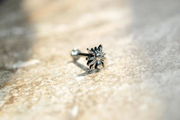 monroe piercing jewelry beaded spider stud