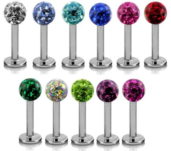 monroe piercing jewelry crystal stone