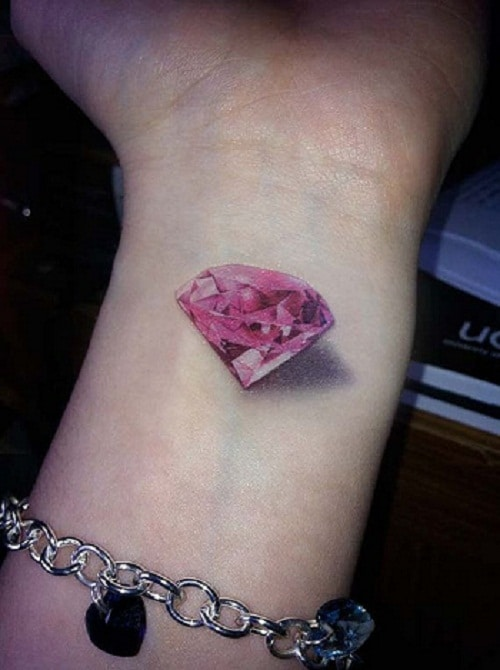 3d-pink-diamond-tattoo