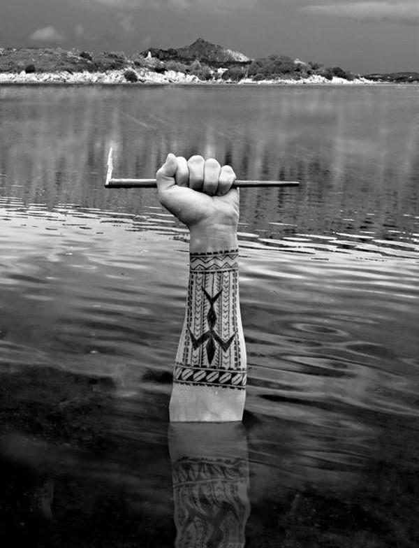 Samoan forearm tattoo