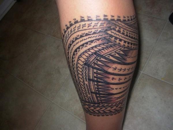 inner leg samoan tattoo