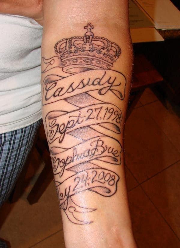 rip tattoos on forearm