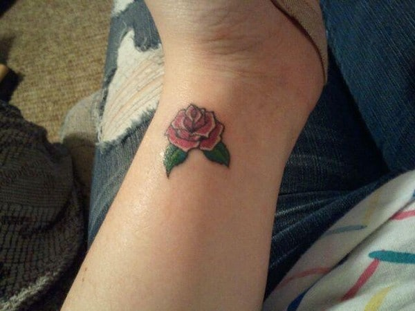 Rose Tattoo For Girls