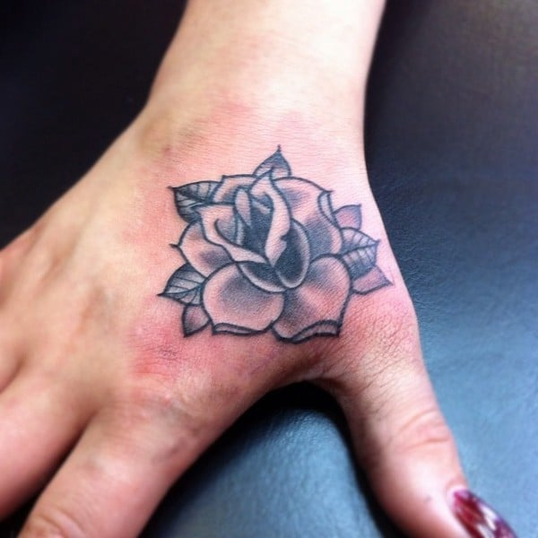 Rose Tattoo On Hand