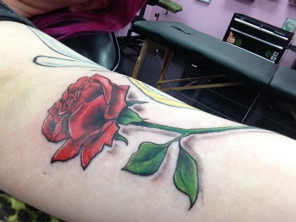 Rose Tattoos On Arm