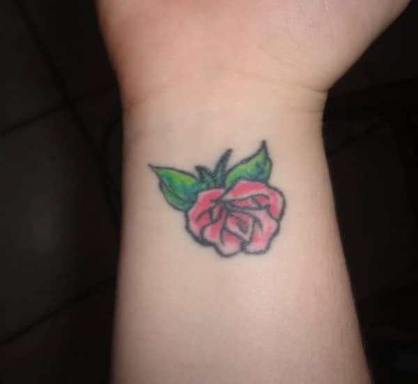 Rose Tattoos On Wrist