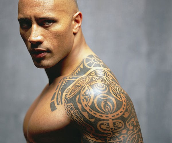 the rock tattoo
