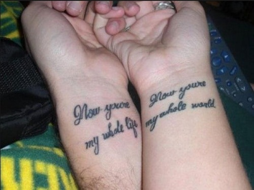 Whole Life Couples Tattoos Quotes