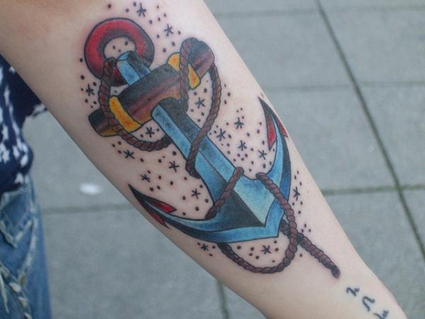 Amazing Anchor Tattoo