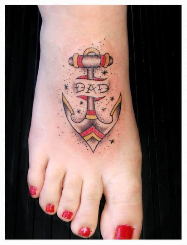 Anchor Dad Tattoo