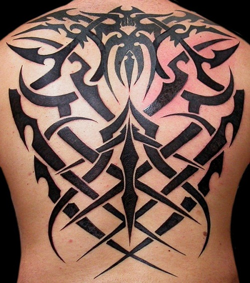 Back Tribal Tattoos Inspiration
