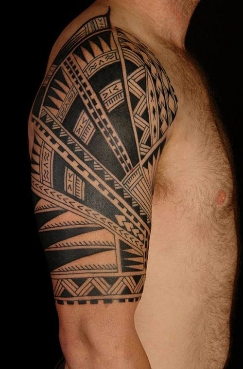 Great Detailed Tribal Tattoos Inspiration