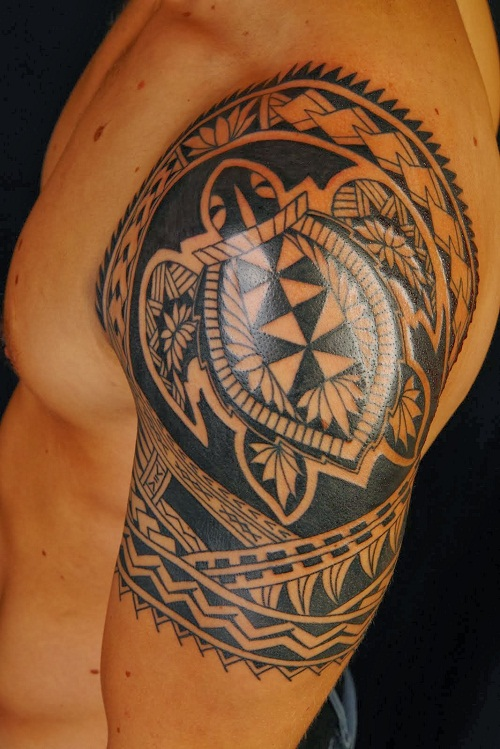 Hawaiian Warrior Tribal Tattoos Design