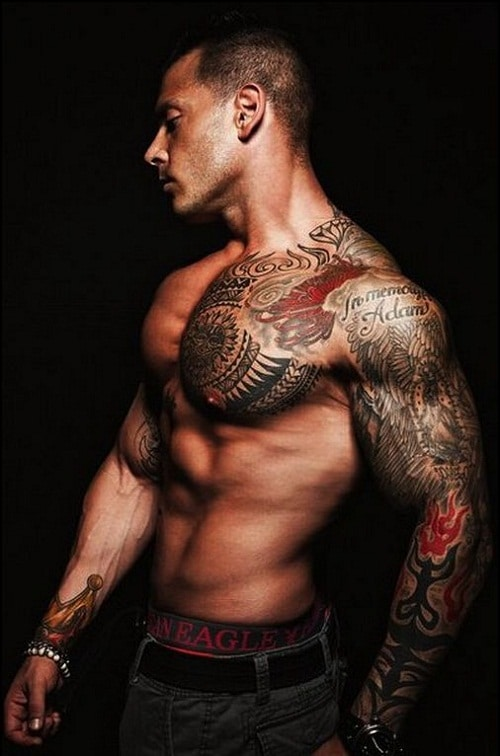 Hot and Sexy Tribal Tattoos on Arm and Shoulder