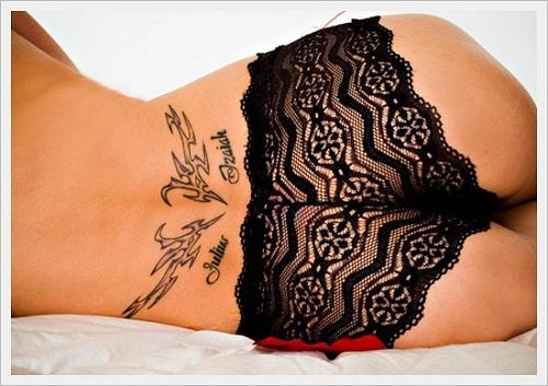 Hot Lower Back Tribal Tattoos
