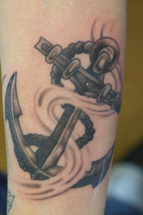 Old School Anchor Tattoo Design