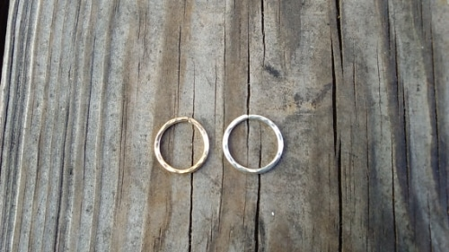 Hammered Piercing - Price: $7.61 - Get it via Etsy