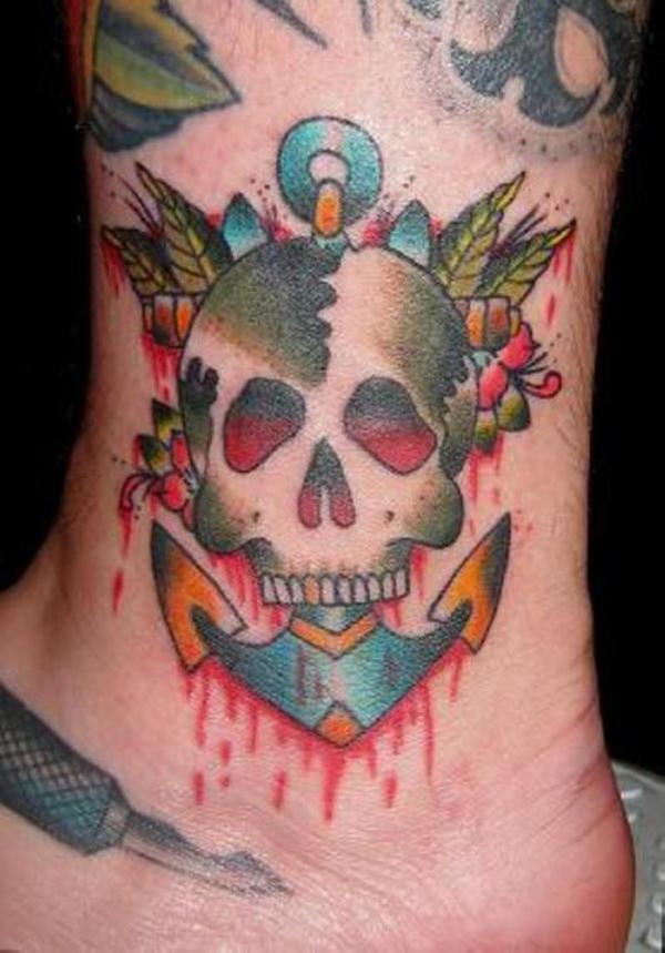 Skull Anchor Tattoo