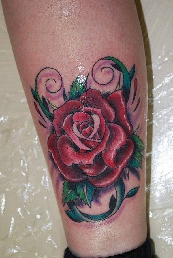 Small Rose Tattoo For Men