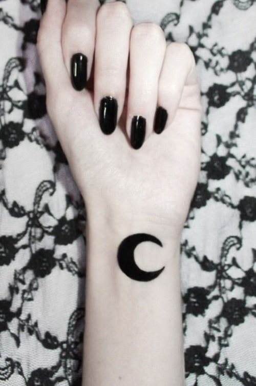 Wrist Moon Tattoos