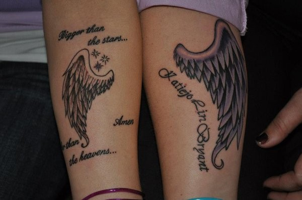 Angel Wing Matching Tattoos