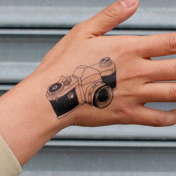 Camera Tattoo On Hand
