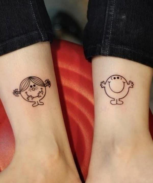 Cute Matching Tattoo On Hand