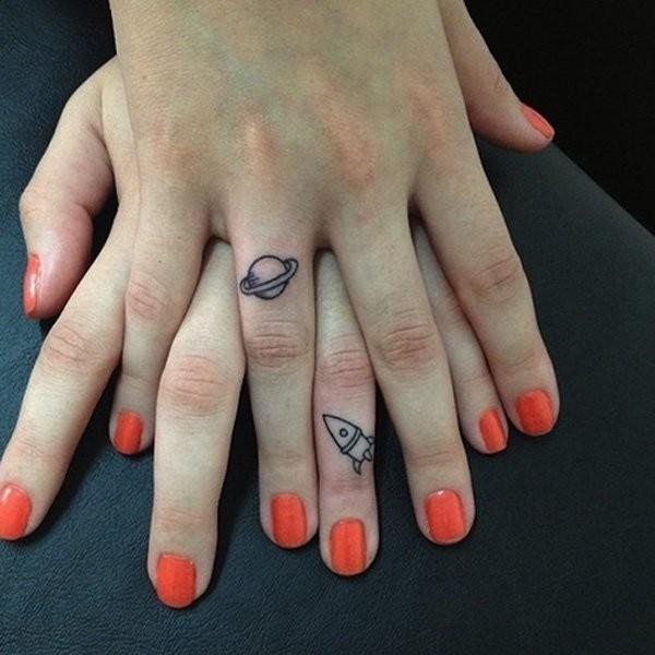 Finger Matching Tattoos