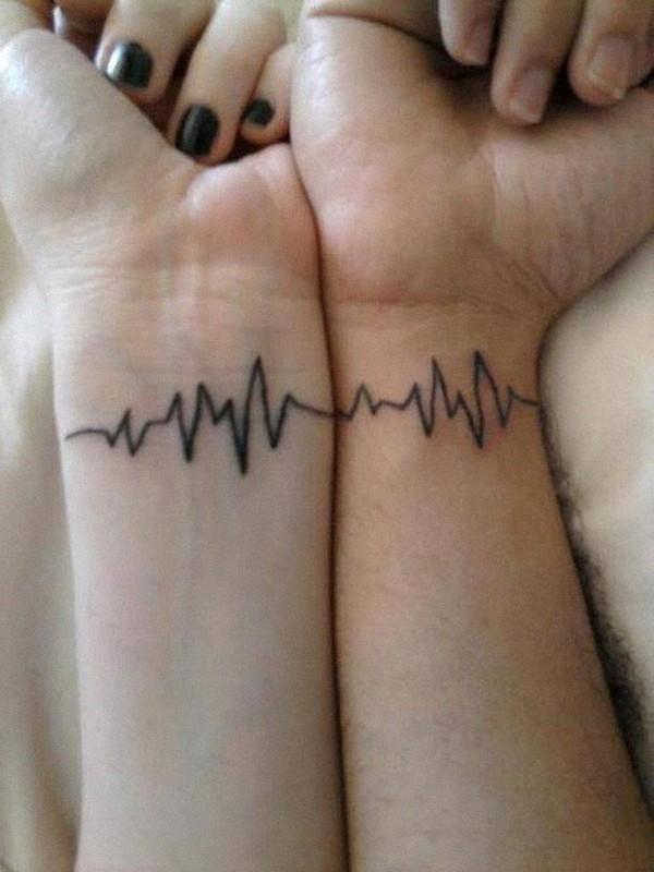 Heartbeat Matching Tattoo