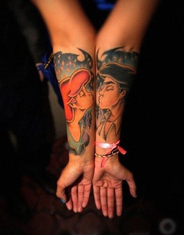 Kiss Matching Tattoo