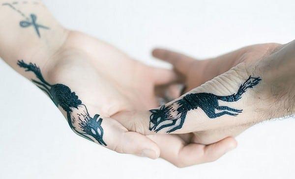 Matching Animal Tattoo