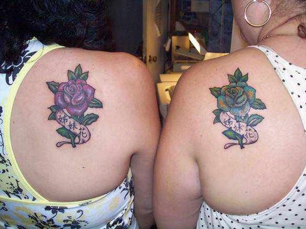 Matching Rose Tattoos