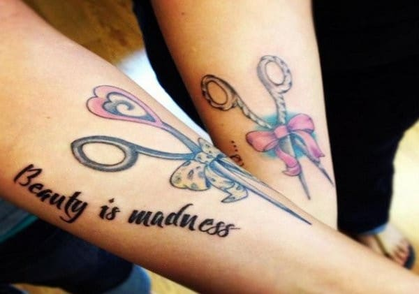 Matching Tattoos Ideas For Mother And Daughter