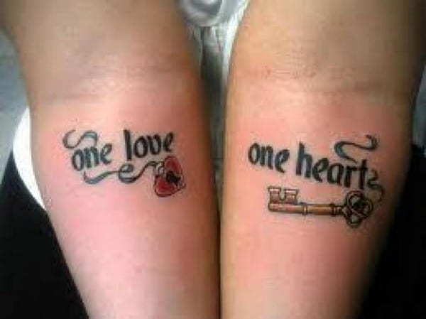 One Love One Heart Matching Tattoos