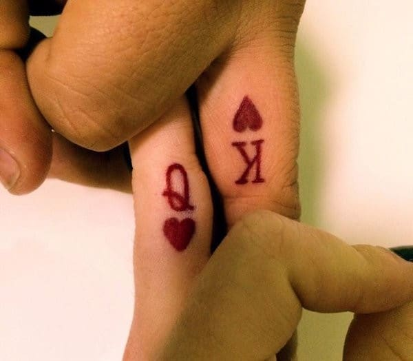 Q And K Matching Tattoos