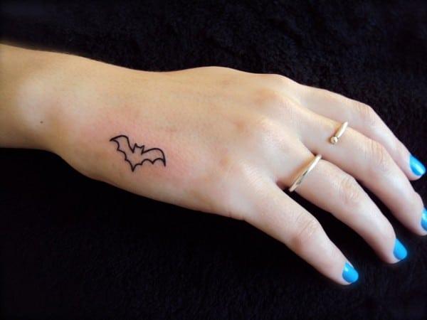 Small Bat Tattoo
