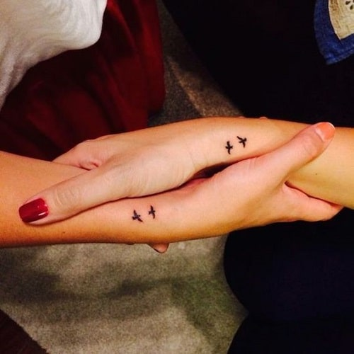 Bestfriend Wrist Bird Tattoos