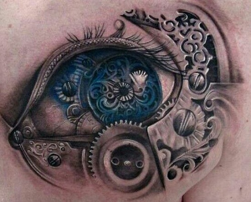 Blue Eye Tattoo with Amazing Details