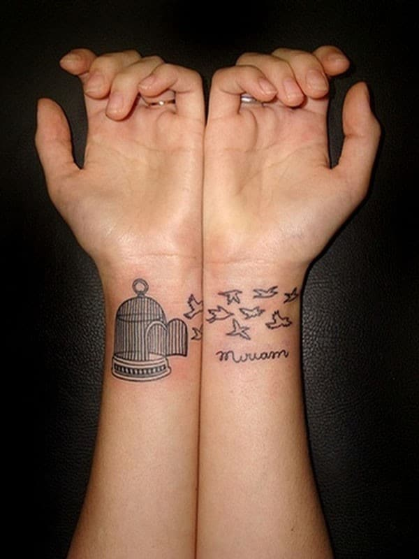 Cute Wrist Tattoo Design