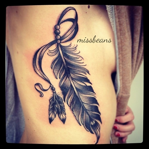 Feather Tattoo on Side