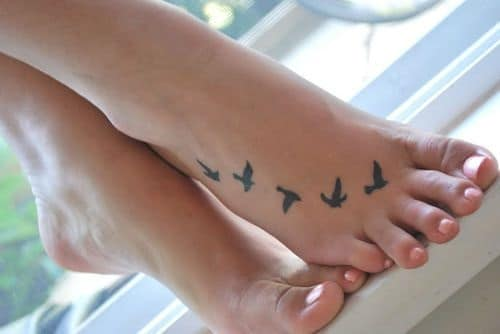 Foot Bird Tattoos